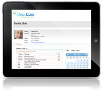 ClearCare on a tablet